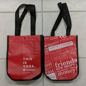 Set of 2 Lululemon Reusable Shopping Bag